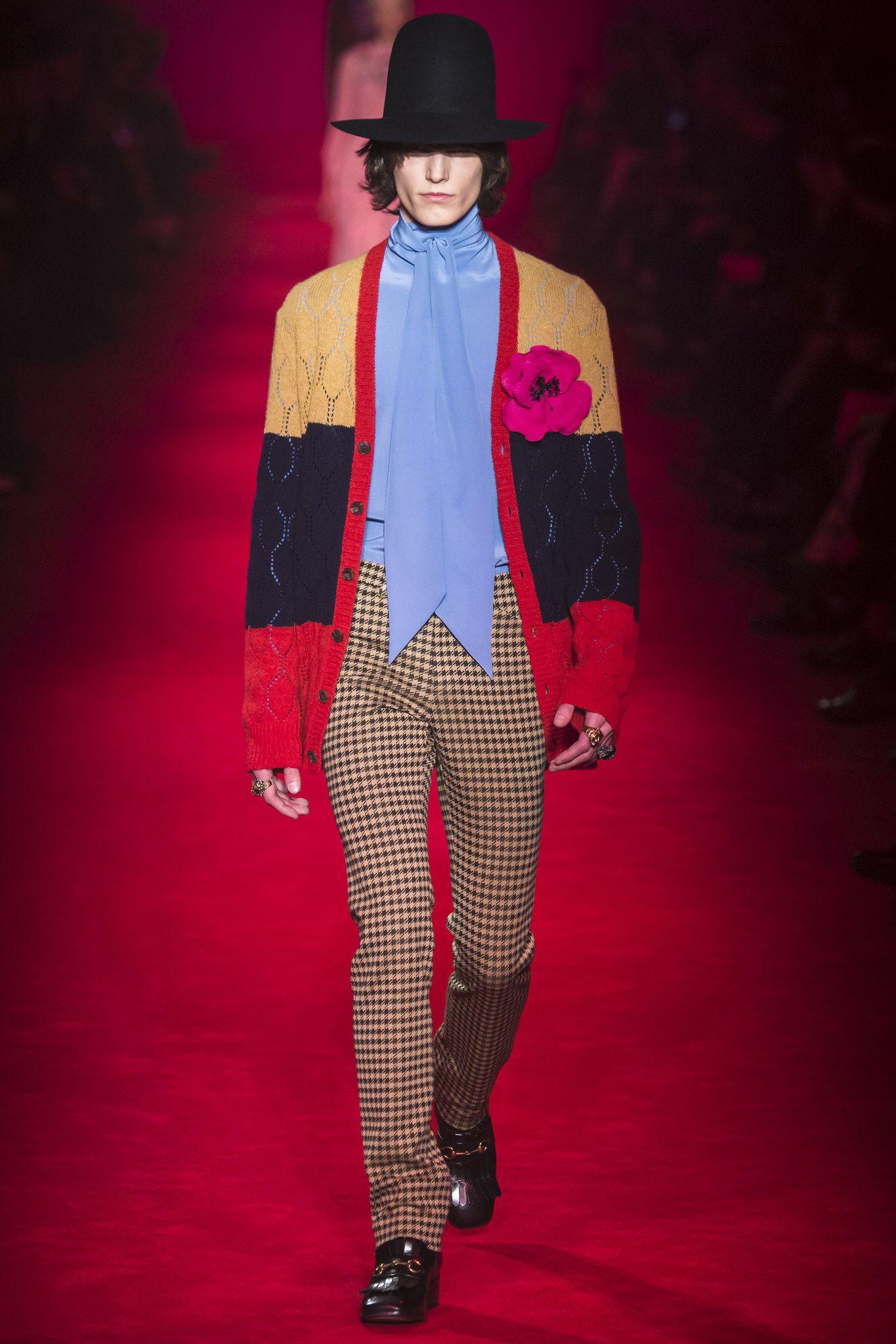 Gucci fall menswear fashion show gucci fall and model