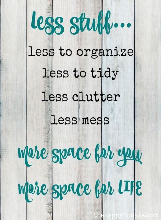 Pinterest | Declutter, Clutter, Words