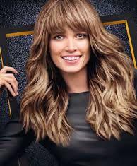 Frangetta capelli mossi lunghi