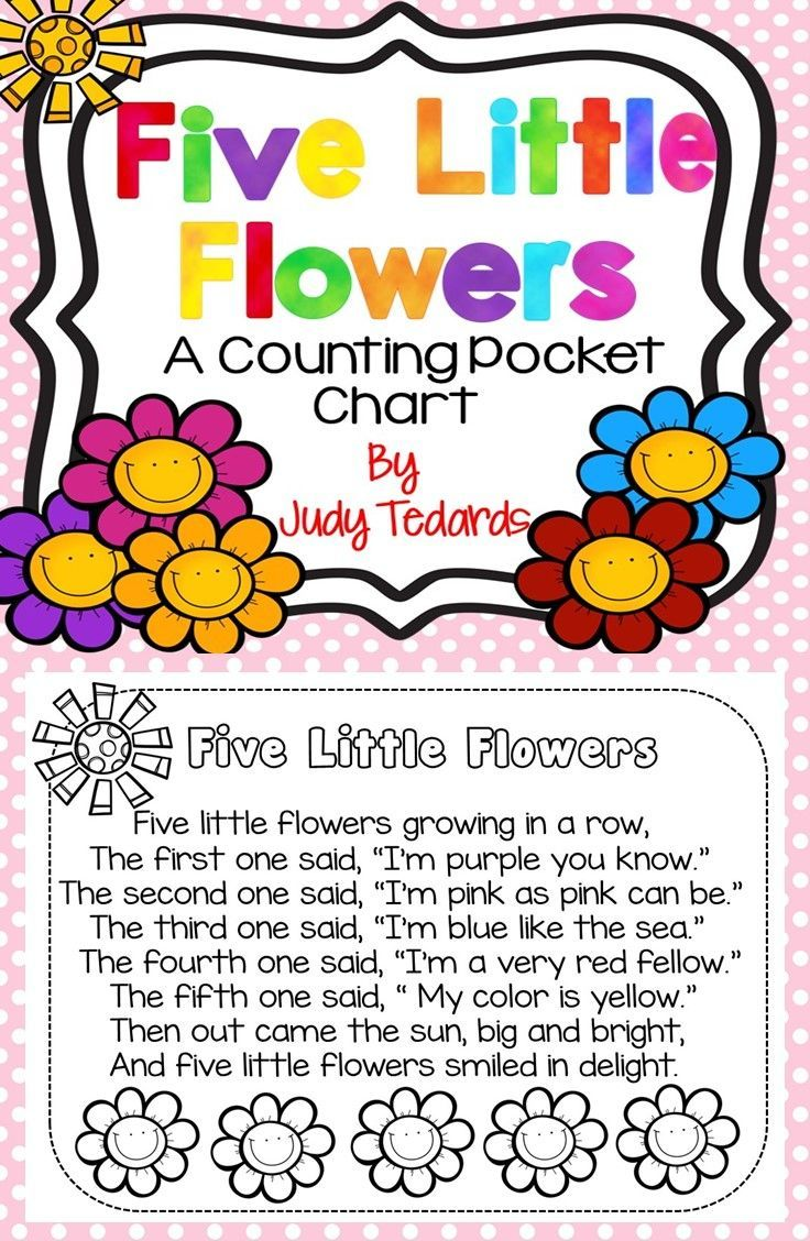 Five Little Flowers (Pocket Chart Activity and Student Book)