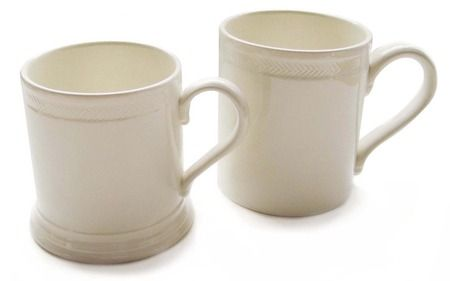 Below stairs utility chic, with a herringbone twist.  Made by Leeds Pottery, established 1781. From Ancient Industries.