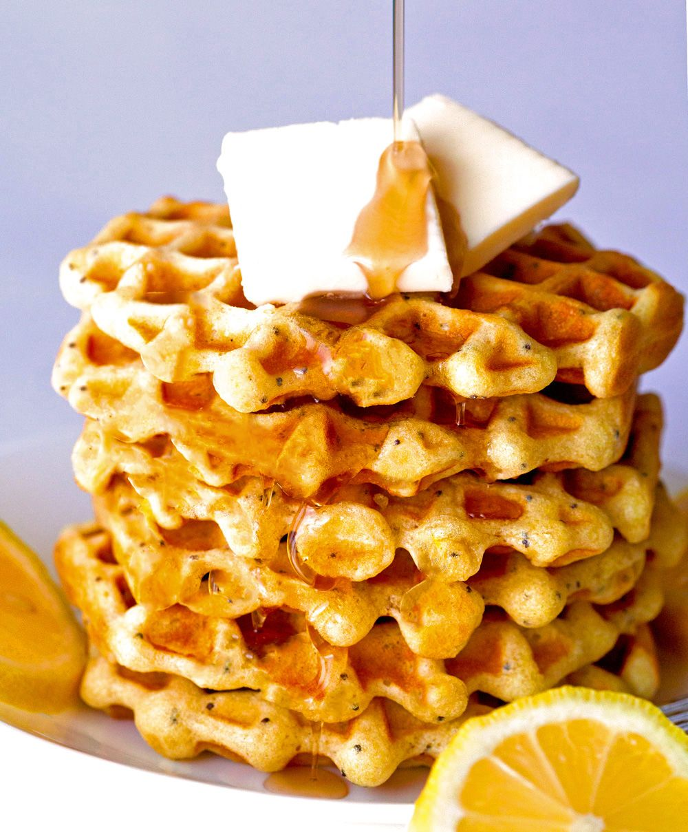 Lemon Poppy Seed Waffles