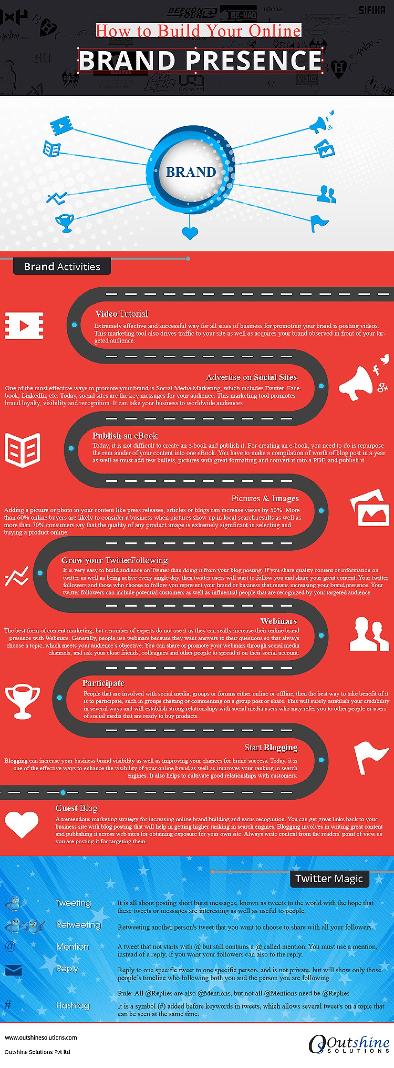 How Build Your Online Brand Presence #Infographic