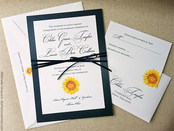 Watercolor sunflower invitations by artist michelle mospens sunflower wedding invitations by easiest free invitation templates printable for having your winsome wedding 19 filmwisefo Choice Image