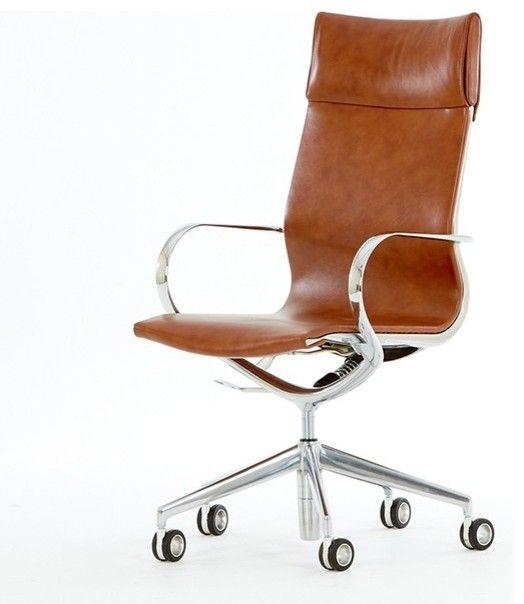 Tan Leather Office Chair Leather Office Chair Modern Office Chair Modern Leather Office Chair
