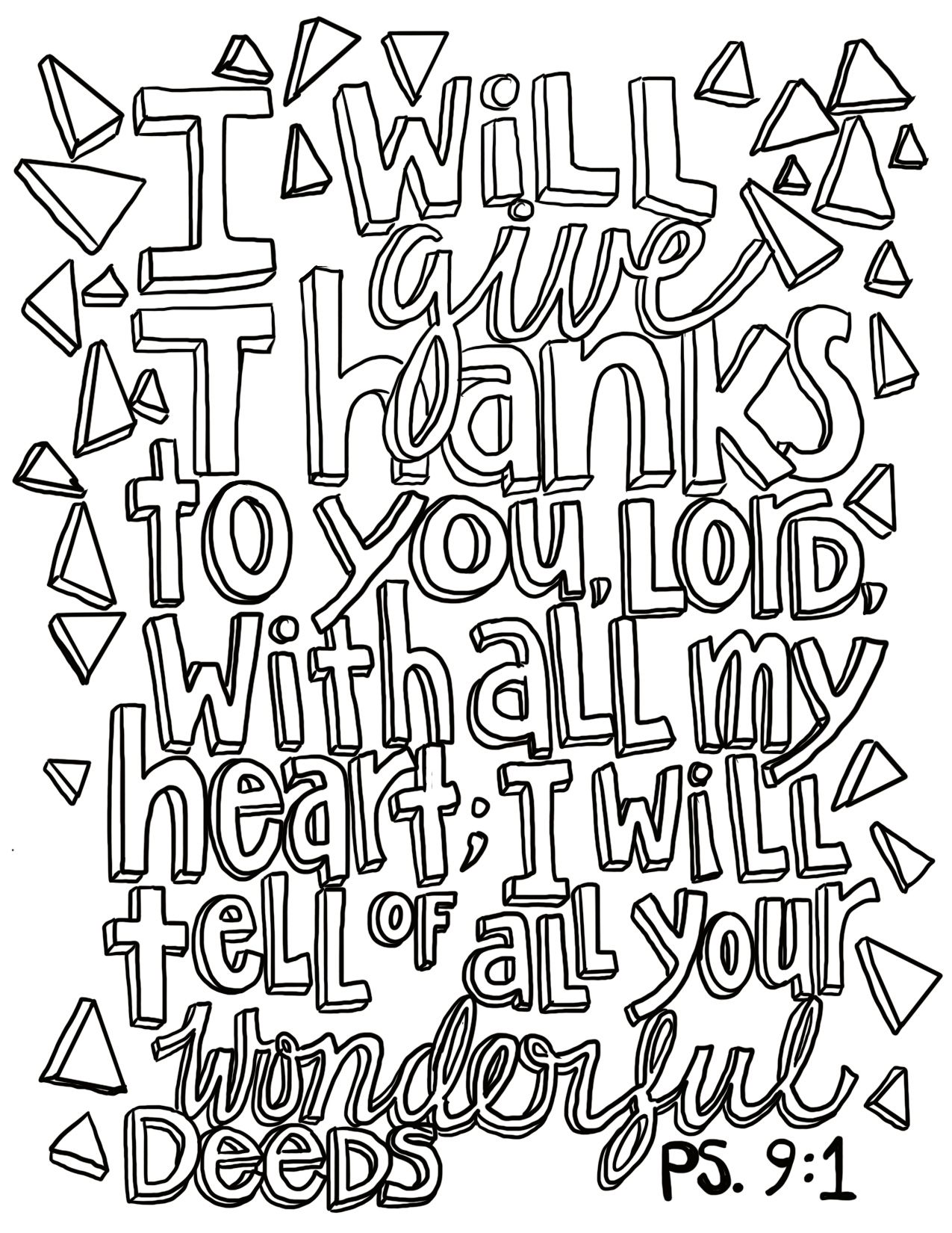 Free Coloring Page Psalm 9 1 From Victory Road Free Coloring