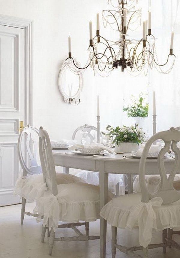 35+ Beautiful Shabby Chic Dining Room Decoration Ideas ...