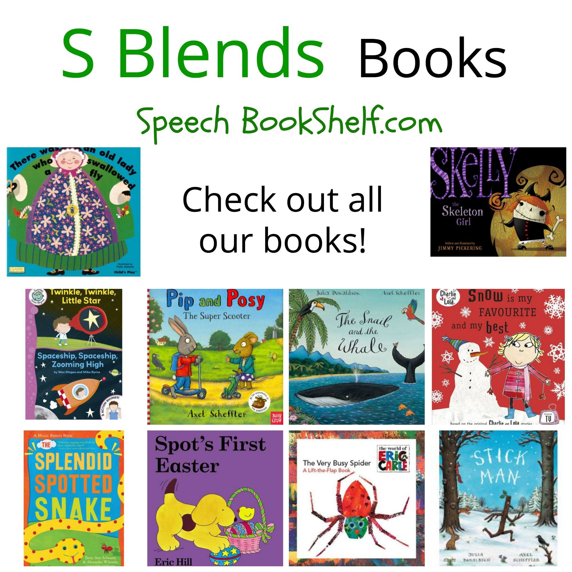 S Blends Book List Picture Books Listed For Preschoolers