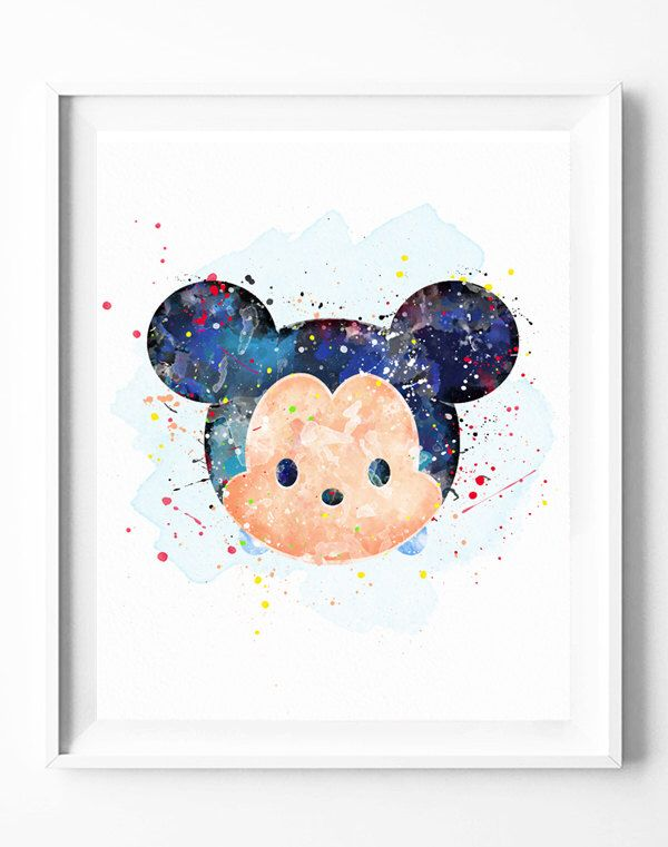 Mickey Mouse Print Disney Tsum Tsum Party Baby Shower Printables