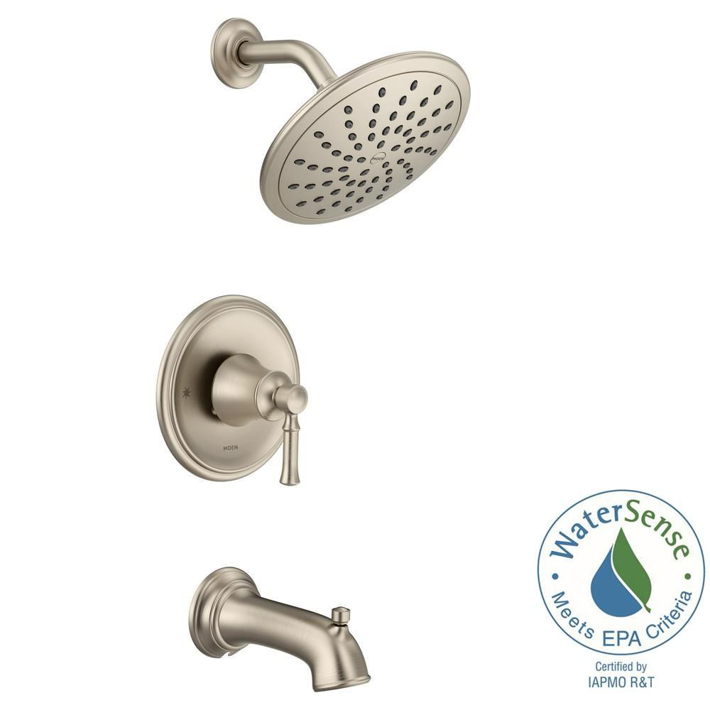 Moen Dartmoor Posi Temp Rain Shower 1 Handle Tub And Shower Faucet