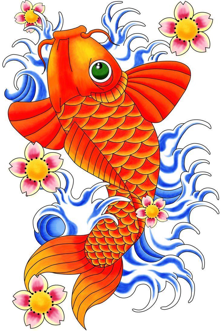 fish art designs | Koi Fish Tattoo Flash peanutbuttermadness ...
