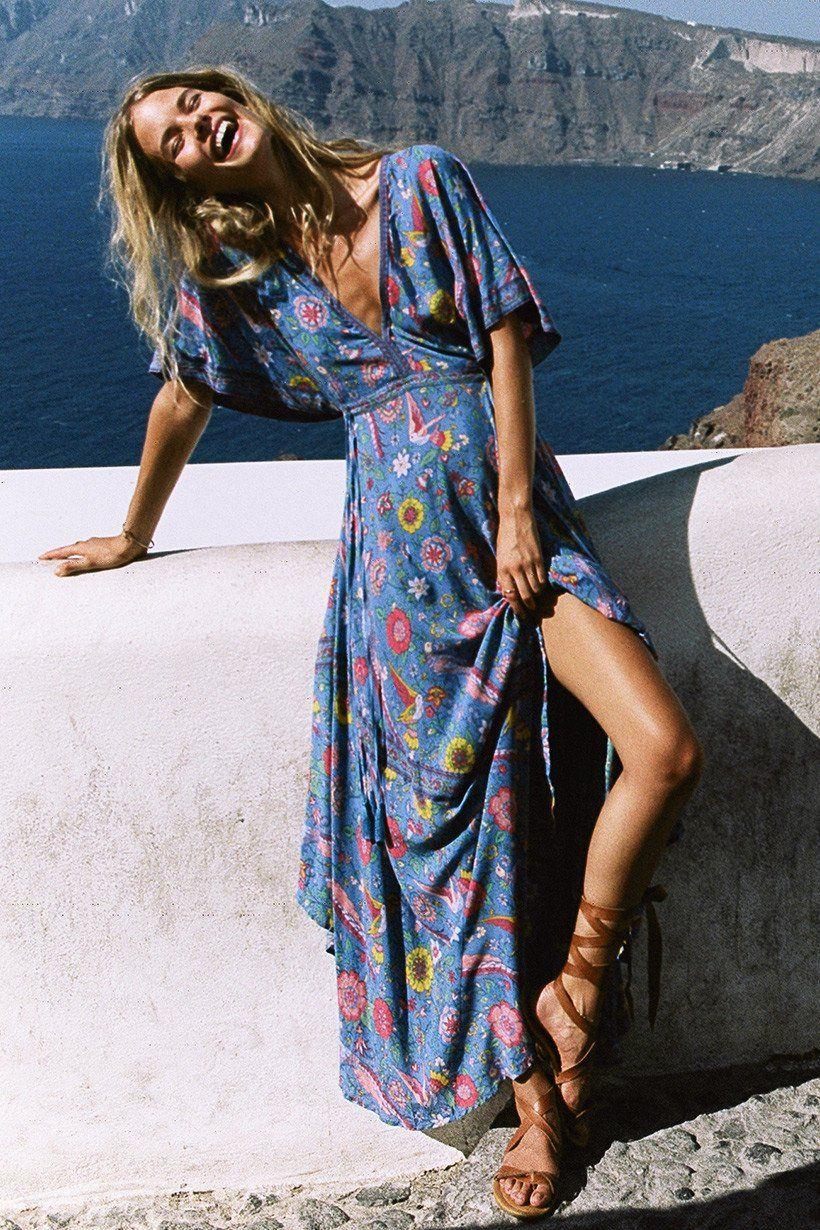Alena Blohm wears Spell Designs Lovebird Half Moon Gown