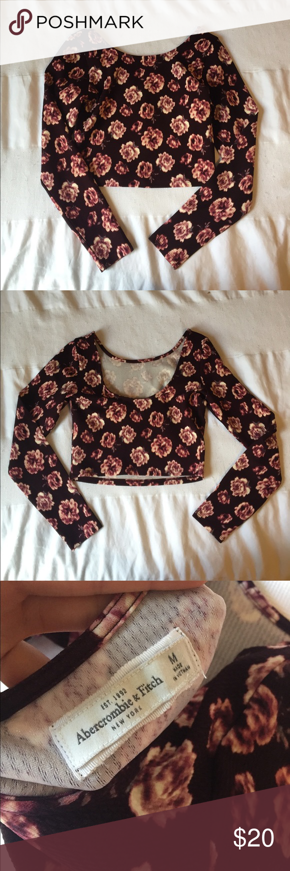 Cute Abercrombie Crop Top NWOT!! Burgundy crop top in size medium. Never worn and in perfect condition!!! Abercrombie & Fitch Tops Crop Tops