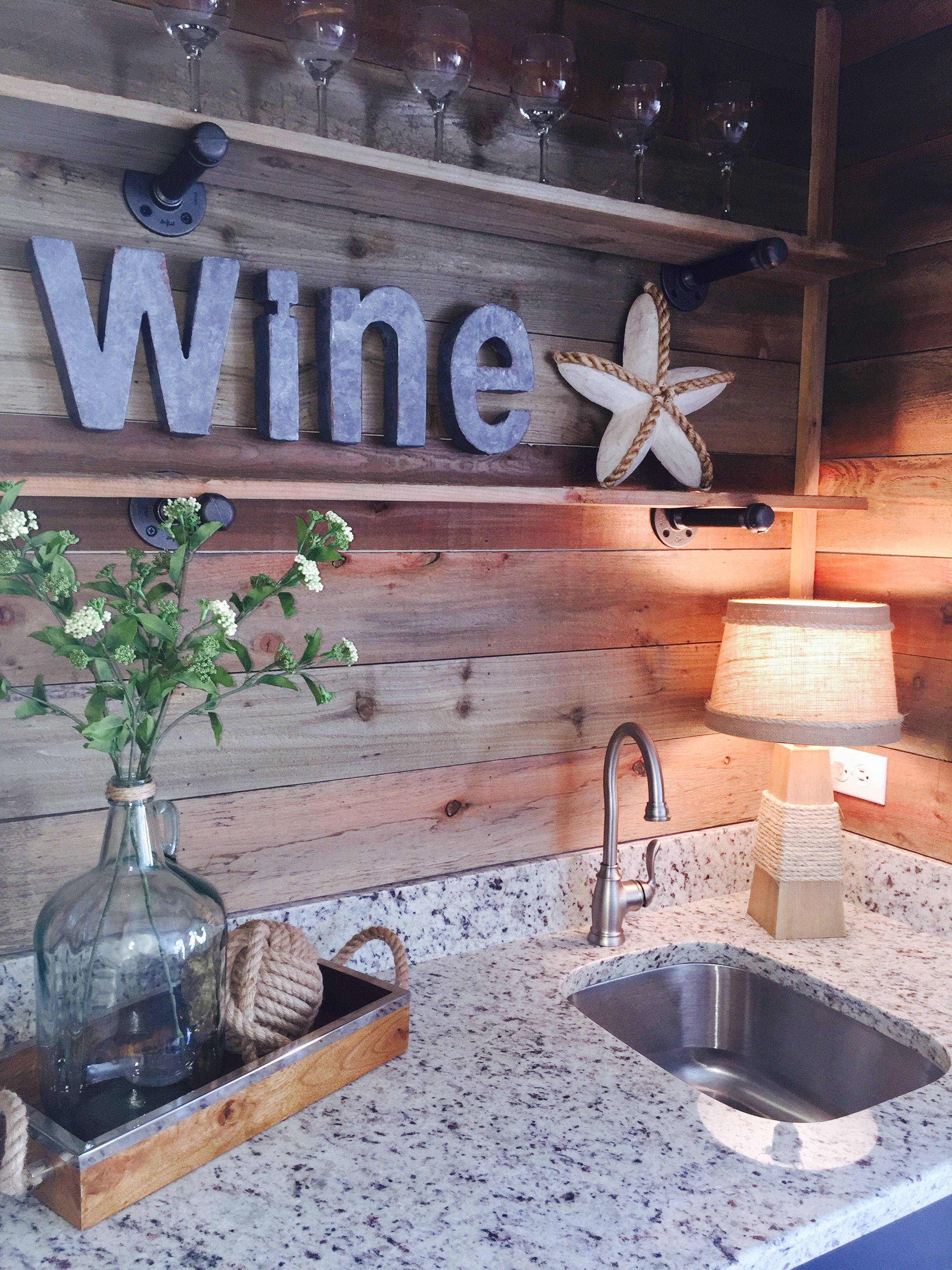 Lake house wine bar