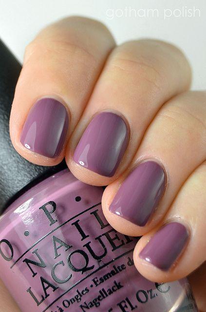 Pretty Plum Nails (OPI I\'m Feeling Sashy 2) ~ we ❤ this ...