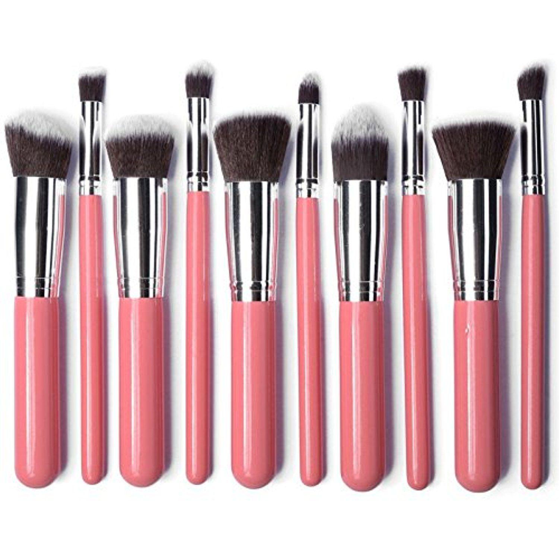 57e4155ada8fa XMY Professional 10pcs Makeup Brushes Pink silver Foundation Blush Liquid  Brush Kabuki Makeup Brush Tools   Visit the image link more details.