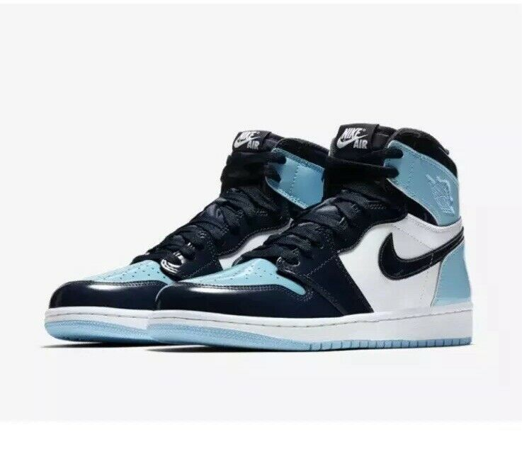 Nike Air Jordan 1 Retro High Blue Chill UNC Patent Lthr ...