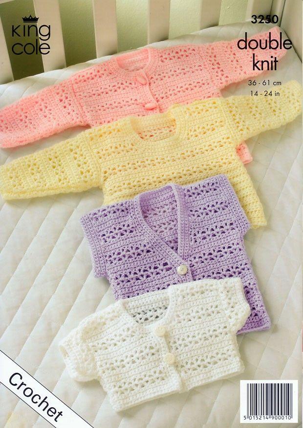 Crochet Cardigan, Bolero, Waistcoat & Sweater in King Cole Comfort ...