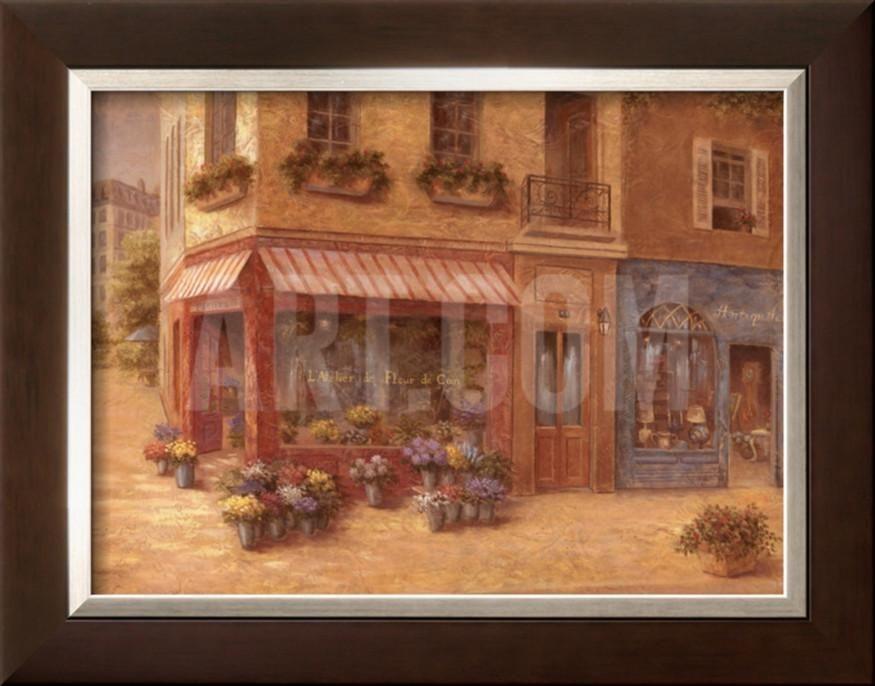 French Shops II Framed Art Print by Vivian Flasch at Art.com ...
