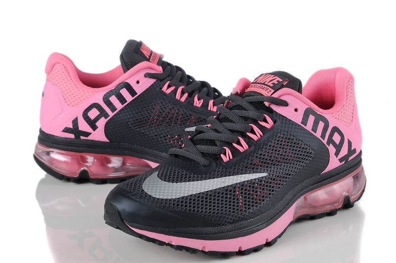 nike air max excellerate 2 mesh womens black cherry pink metallic silver 800