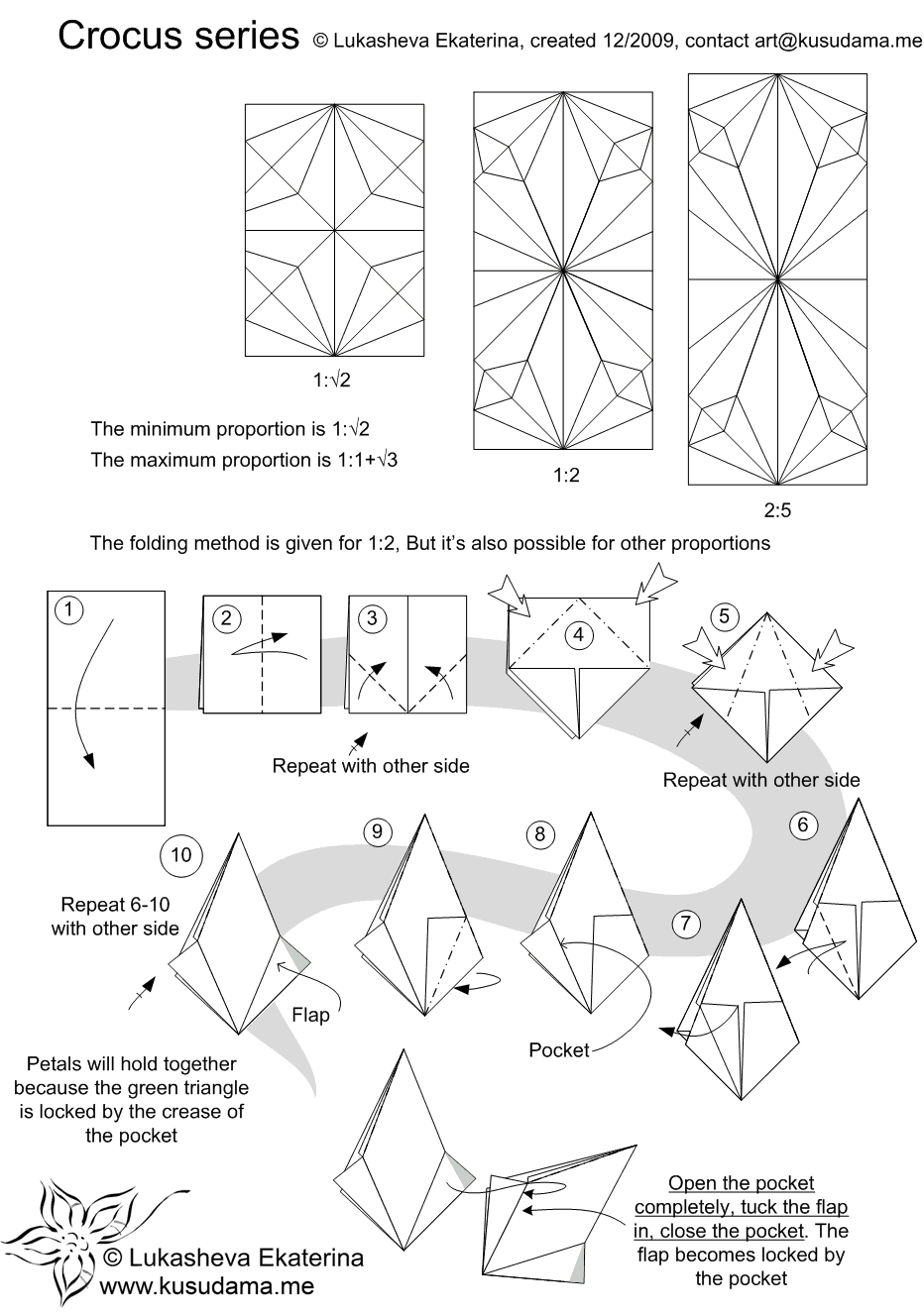 Diagram For Crocus Kusudama Origami And Papercrafts Pinterest Modular Diagrams Tutorial Instructions Techniques