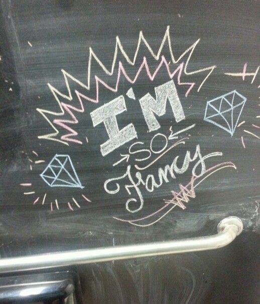 Bathroom stall chalkboard art | Chalkboard art, Neon signs ...