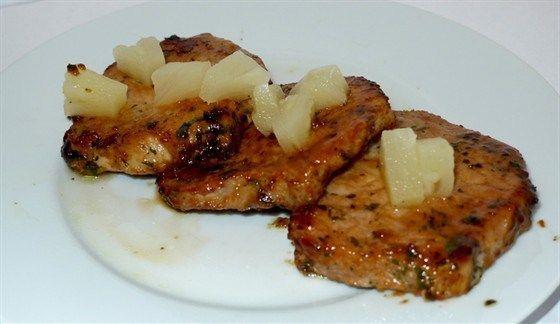Свинина с ананасом   Рецепт   Свинина, Приём пищи ...