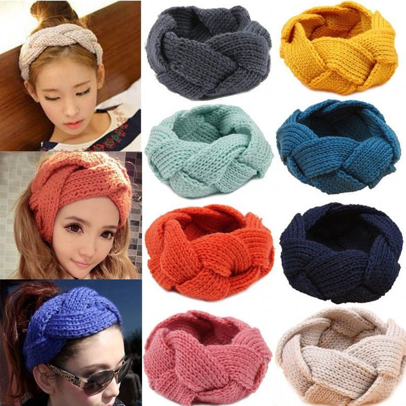 f92f9f4923e Fashion Women Crochet Twist Knitted Head wrap Headband Winter Ear Warmer  Hair Band Soft Braid