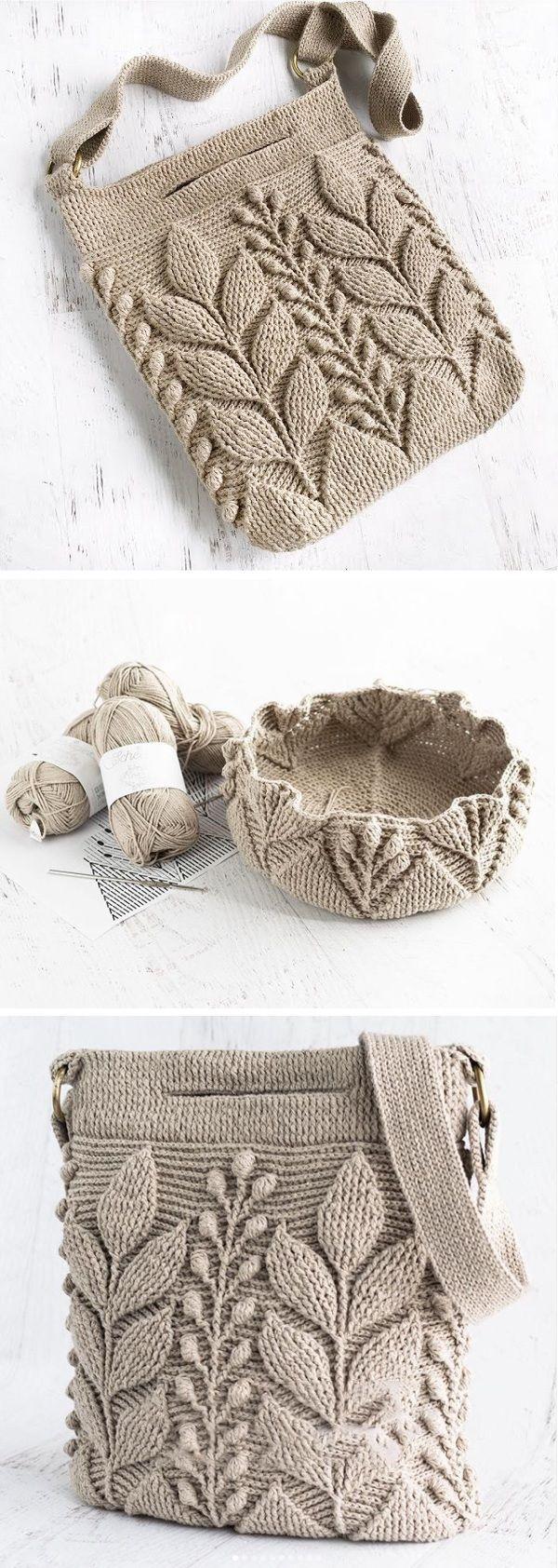 Crochet Leaf Bag Pattern - Design Peak