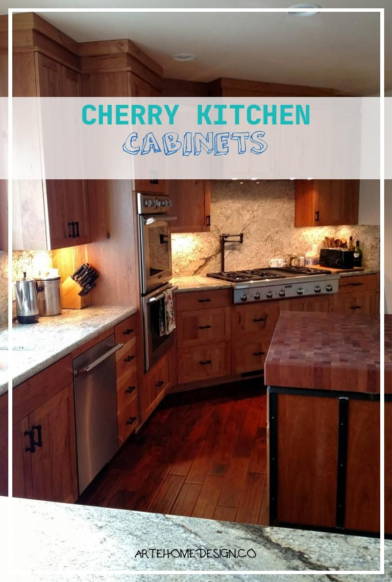 Cherry Kitchen Cabinets In 2020 Cherry Cabinets Kitchen Cherry Kitchen Kitchen Furnishings