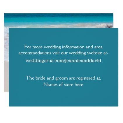 #wedding - #White Beach Wedding Information Card