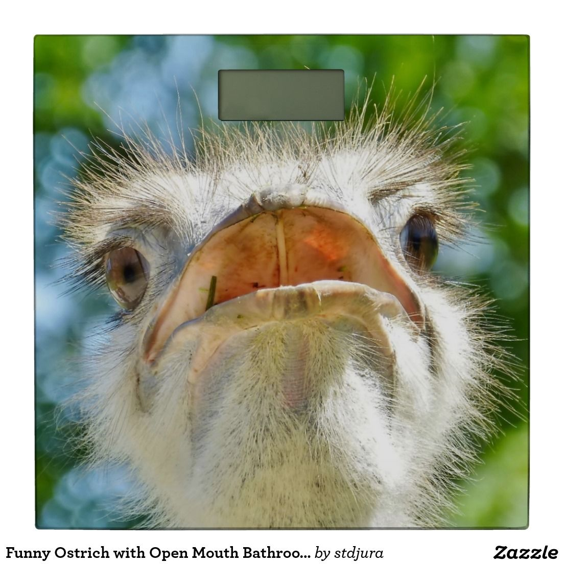 Funny Ostrich with Open Mouth Bathroom Scale
