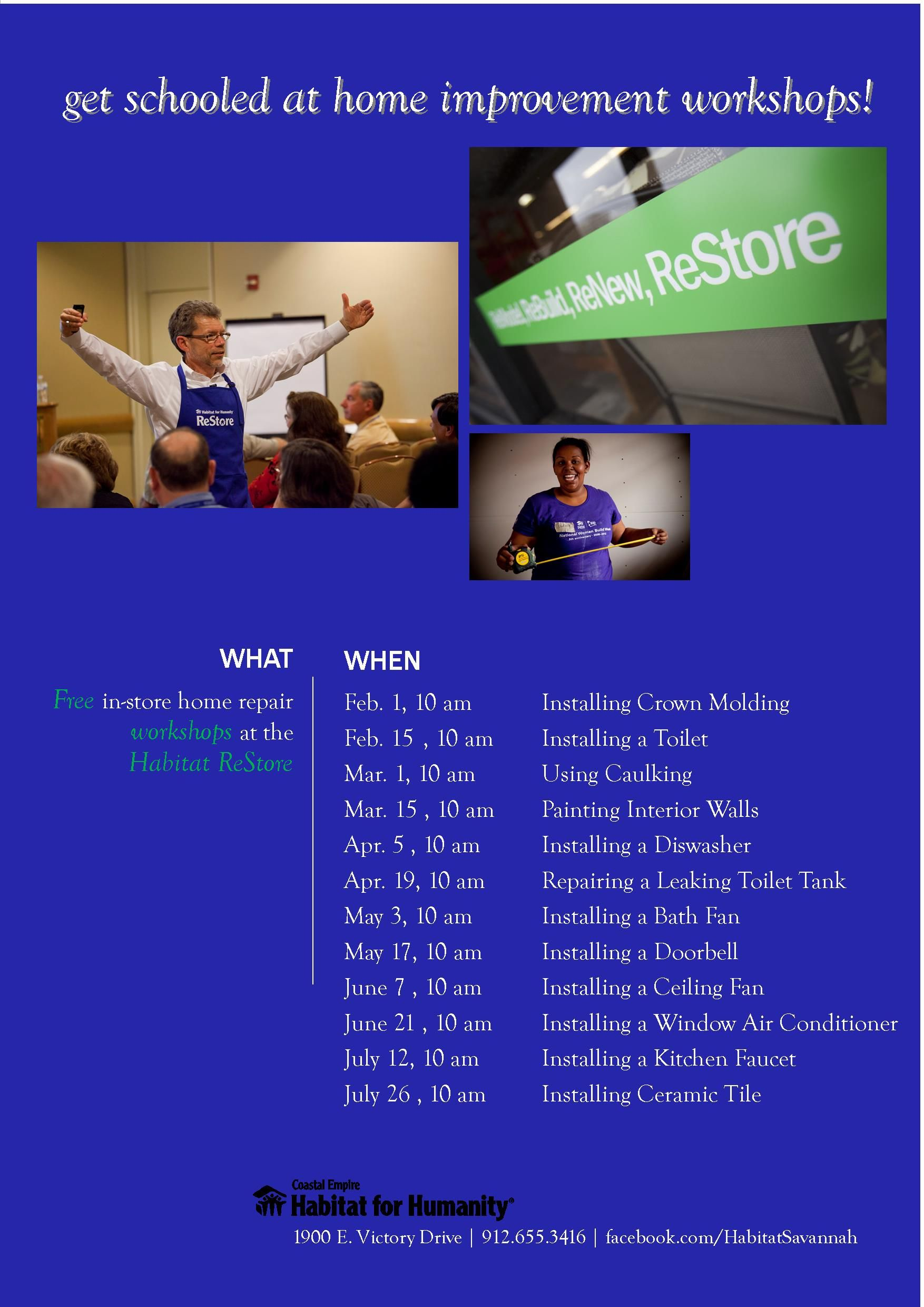 Get Schooled During Home Improvement Sessions At The Restore How To Workshops Staining Deck Habitat Restore Home Repair