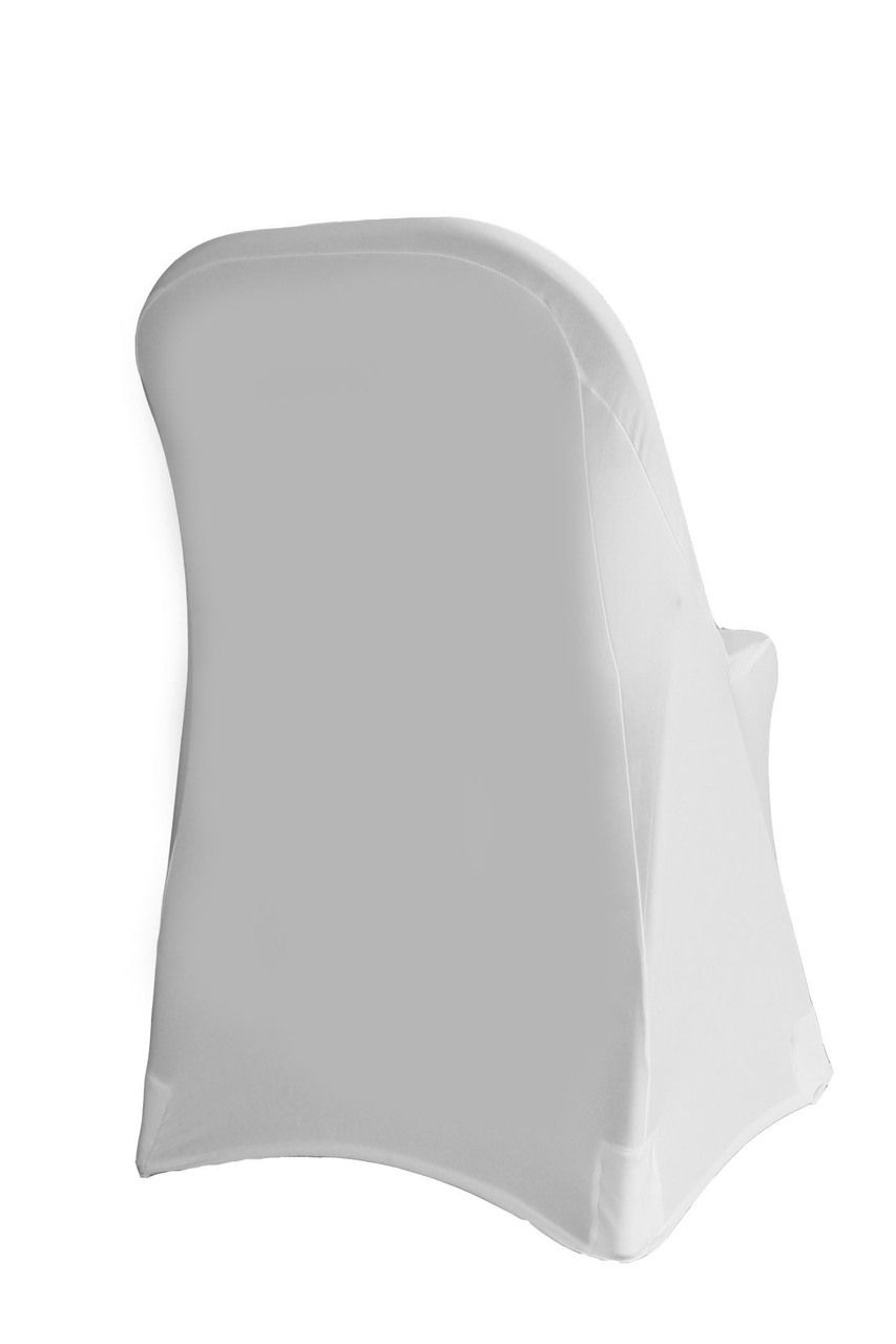Amazing Stretch Spandex Folding Chair Cover White Chair Covers W Pabps2019 Chair Design Images Pabps2019Com