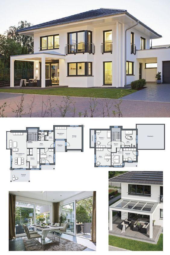 energiesparhaus grundriss stadtvilla city life haus 250 weber haus modernes einfamilienhaus. Black Bedroom Furniture Sets. Home Design Ideas
