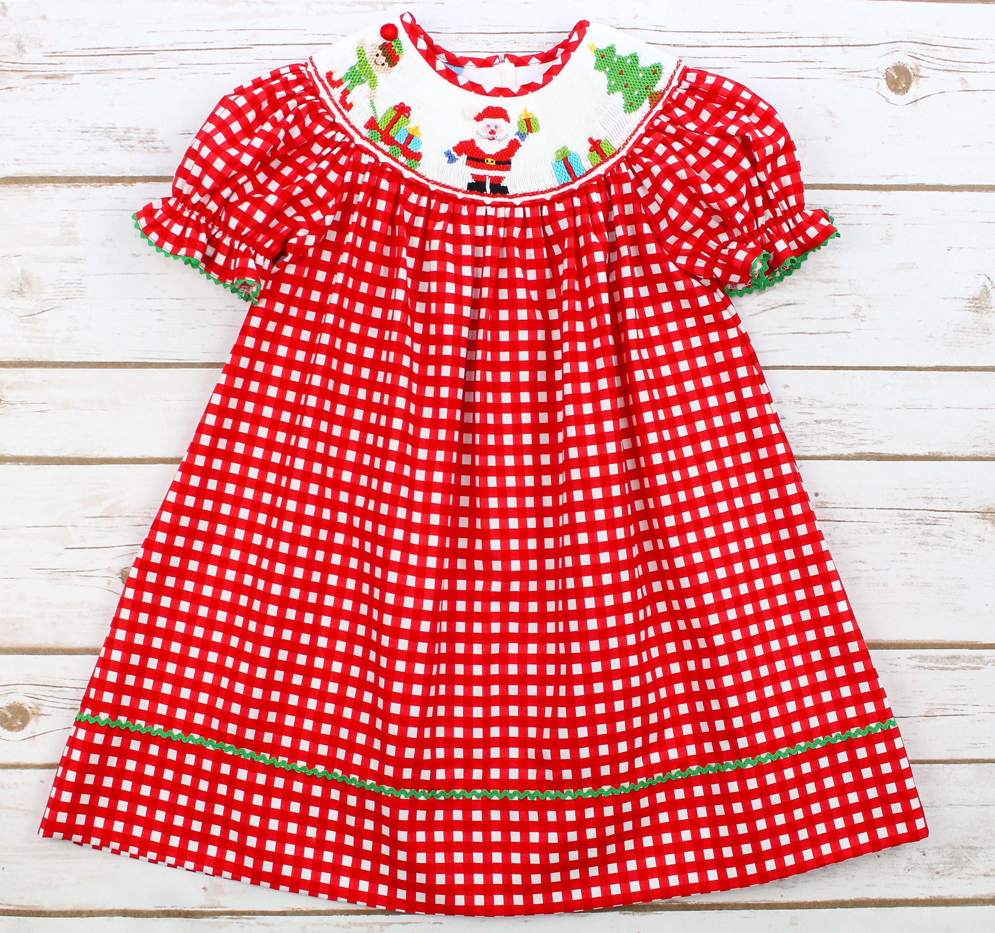 Anavini Christmas Smock Dress $ 60 00 christmas christmasbaby