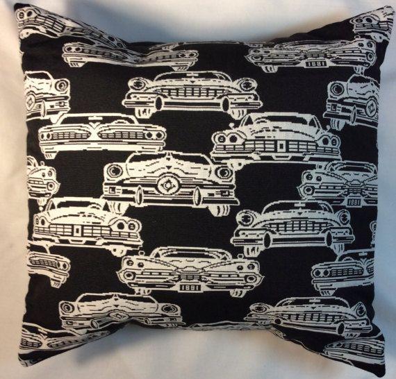 Cars Pillow Man Cave Pillow Classic Car Pillow Antique Car
