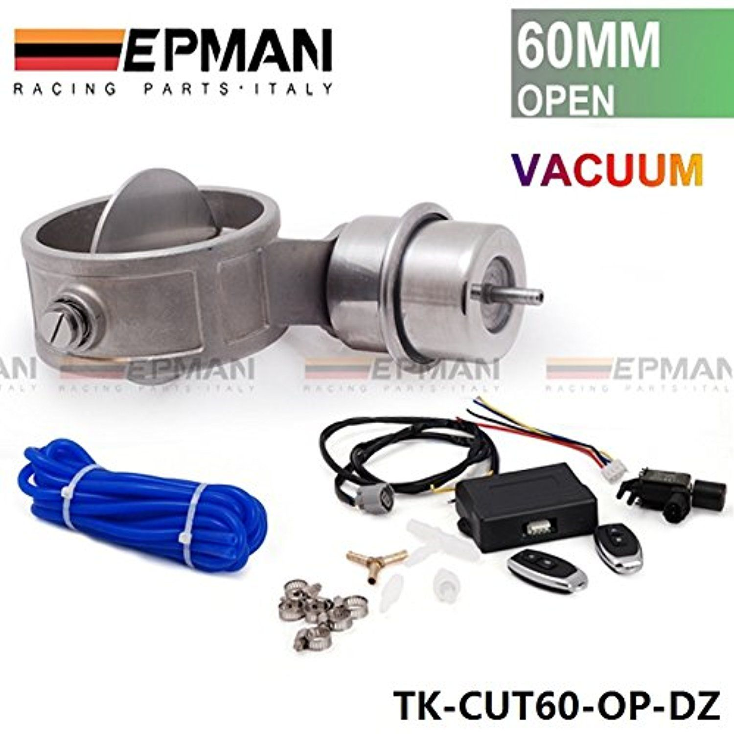 Exhaust control valve set cutout 2 3 60mm pipe open with boost actuator with wireless remote controller set tk cut60 op boost bz awesome product