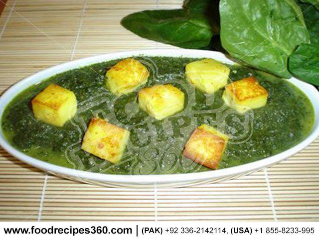 Palak Paneer http://www.foodrecipes360.com/palak-paneer/