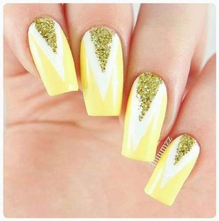 nails acrylic coffin yellow short 67 ideas nails