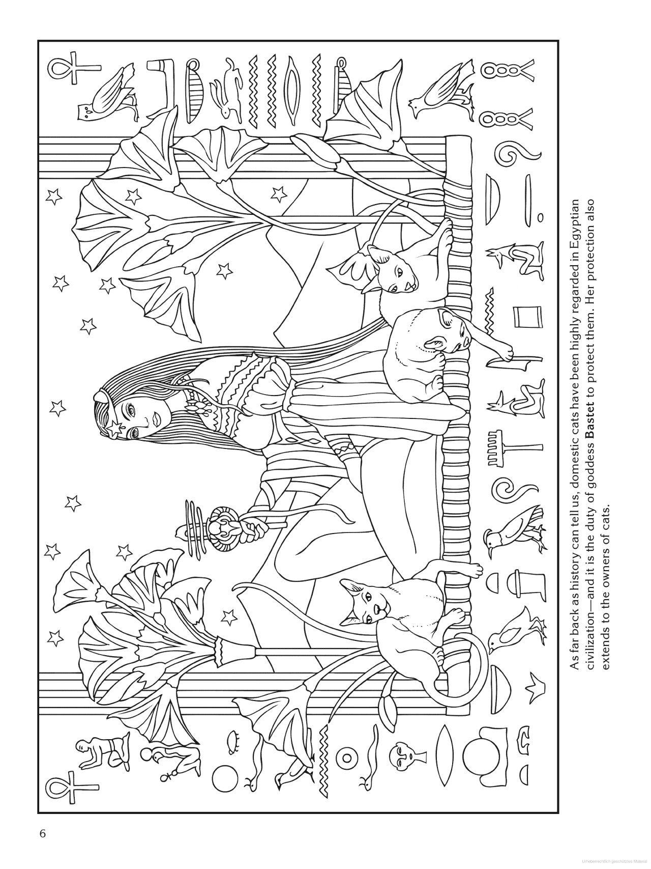 Egyptian Colouring Page