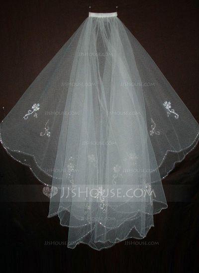 Wedding Veils - $16.99 - Two-tier Waltz Bridal Veils With Beaded Edge (006035457) http://jjshouse.com/Two-Tier-Waltz-Bridal-Veils-With-Beaded-Edge-006035457-g35457?ver=1