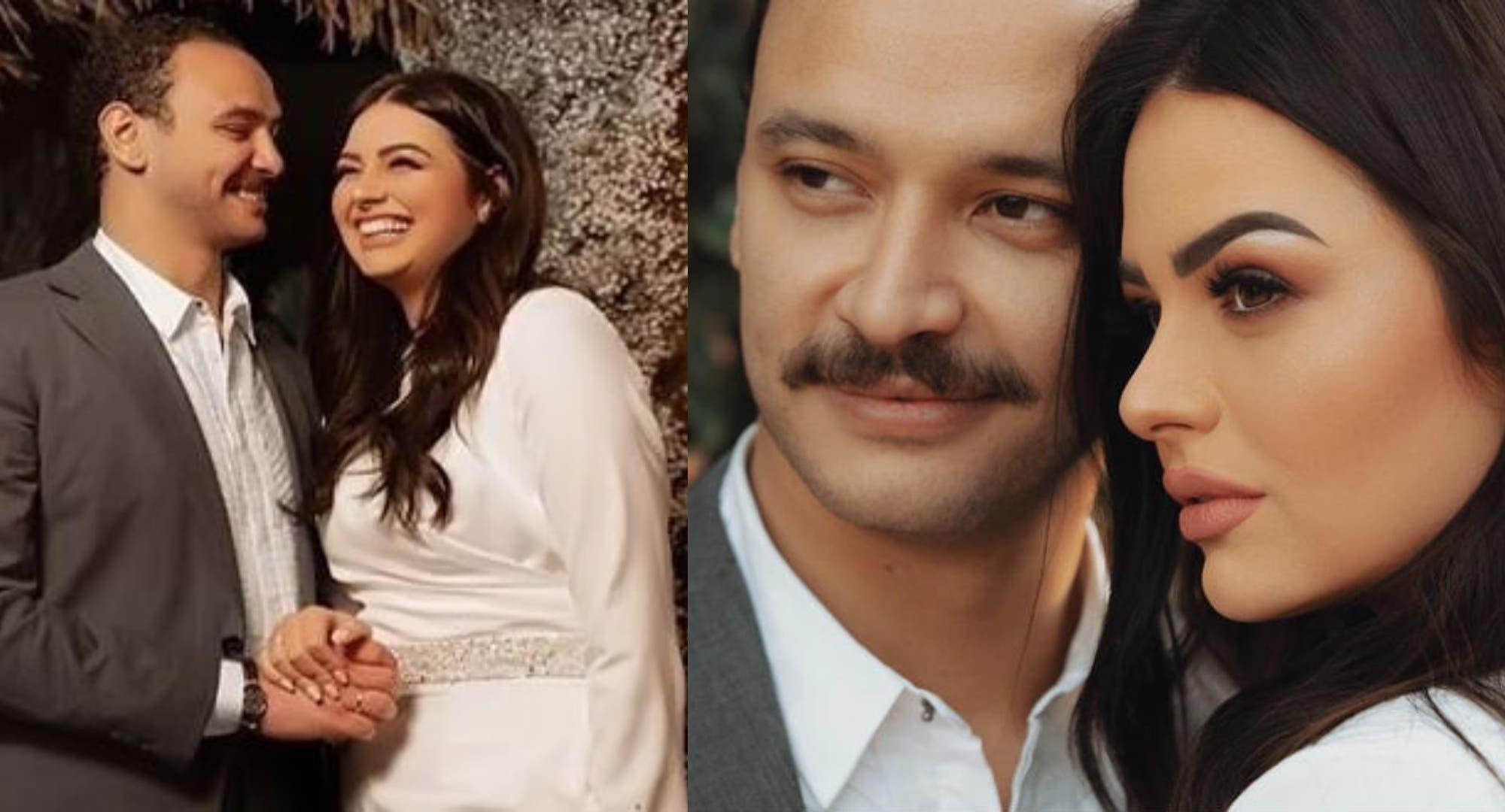 هنادي مهنا تحتفل بزفافها من أحمد خالد صالح وانهيار والدها في الحفل يتصدر الحديث Fashion Lab Coat Pearl Earrings