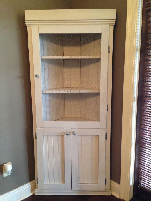 DIY Corner Hutch  Furniture  Corner hutch, Corner cupboard, Kitchen corner