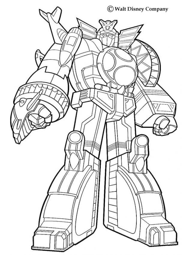 Giant Robot Coloring Page From Power Rangers Pages More TV Series Sheets On