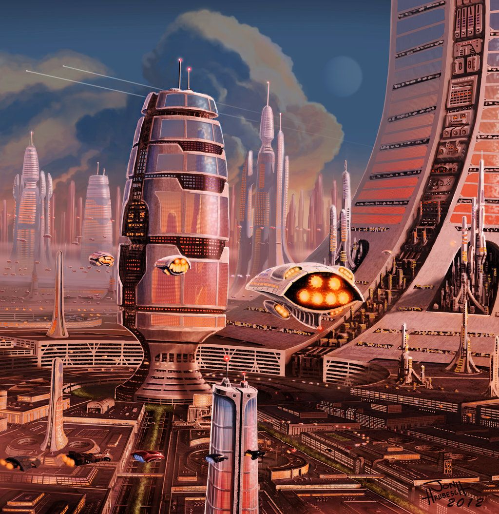 Future City By Jonhrubesch City Future Art Gosstudio We