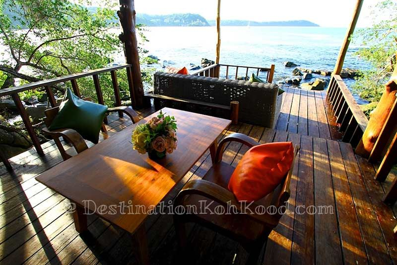 River terrace in front of a Deluxe Villa @ Captain Hook Resort (Koh