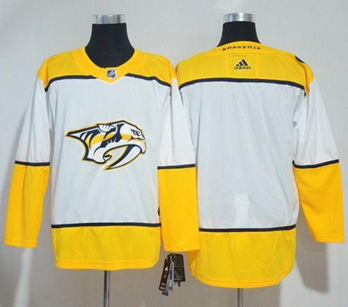 0c63239ab Adidas Predators Blank White Road Authentic Stitched NHL Jersey ...