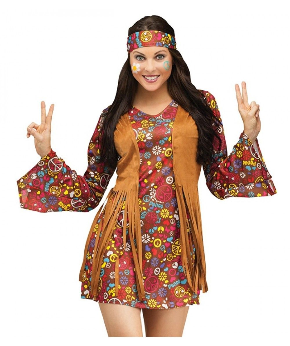Stunning 2 piece Peace Print #Hippie Long Sleeved #Costume ...