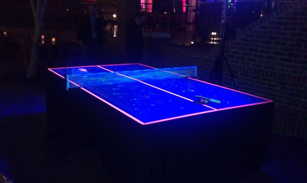 Very Cool Black Light Ping Pong Table!